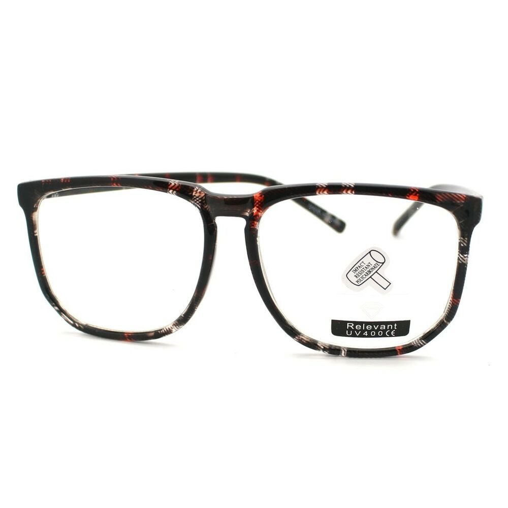 oversized square clear lens glasses unique nerdy