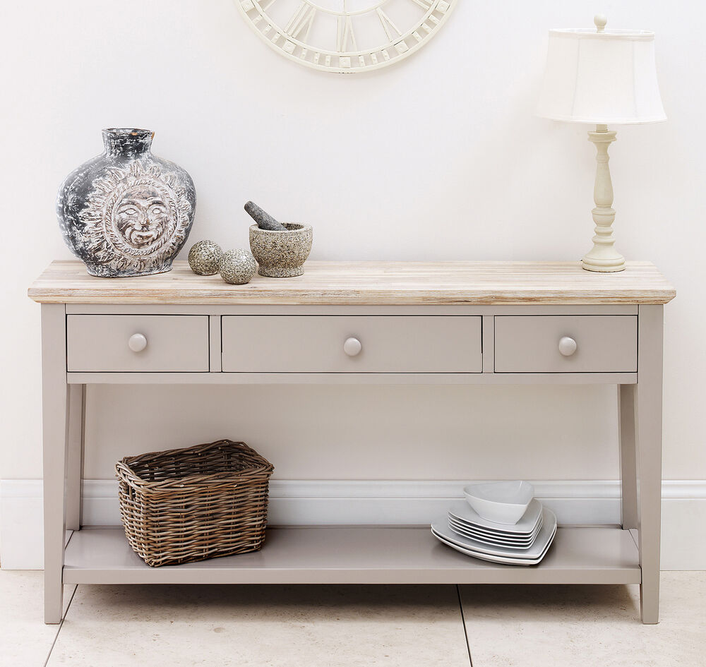 Florence Console Table Stunning Kitchen Hallway Console Table In Truffle Colour Ebay