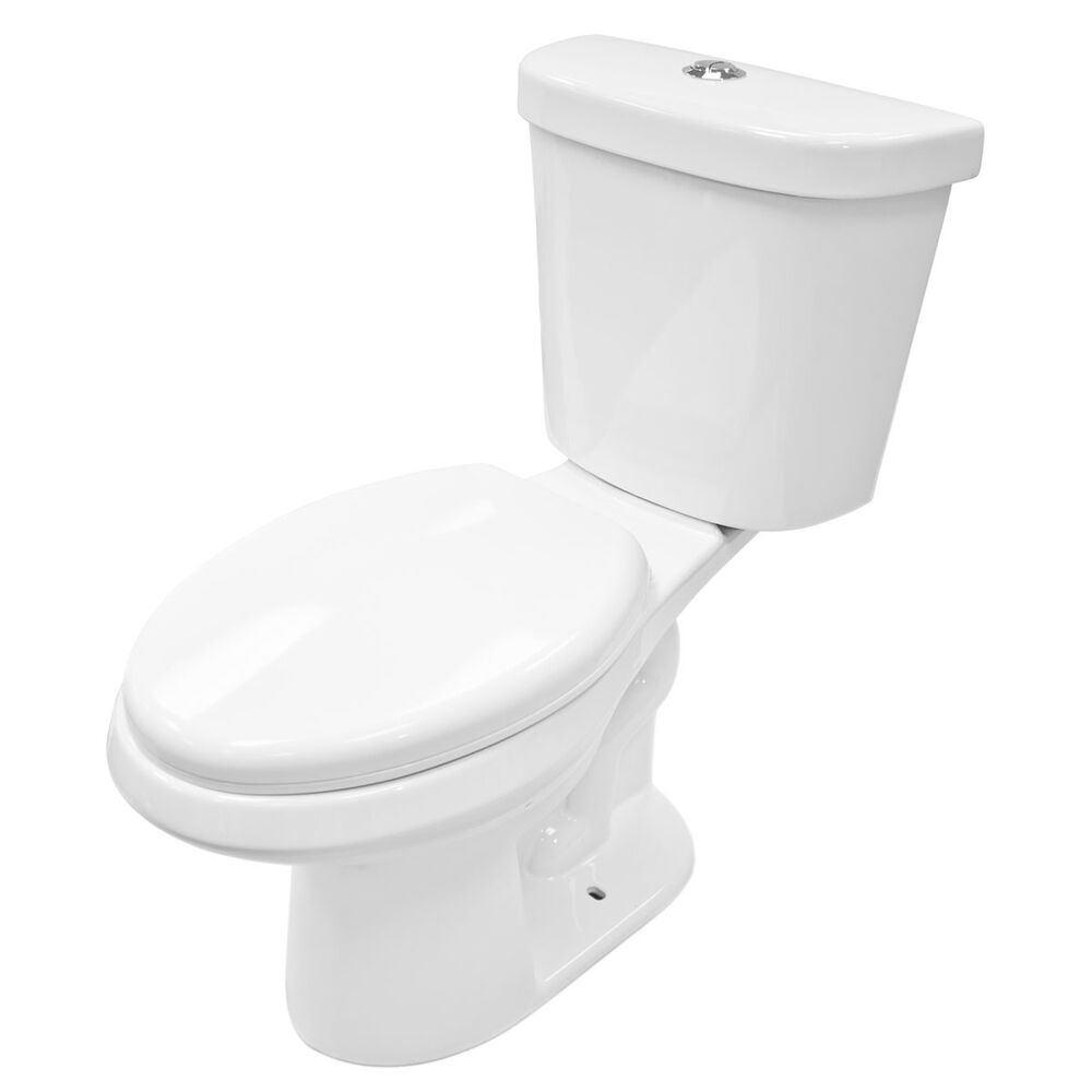 Soft Close Two Piece White Ceramic Toilet Lt1d With Dual