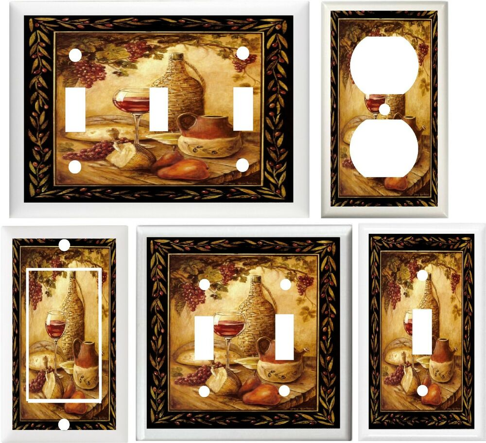 Kitchen Accessories Hanging: TUSCAN WINE & FRUIT KITCHEN DECOR SWITCH OR OUTLET COVER