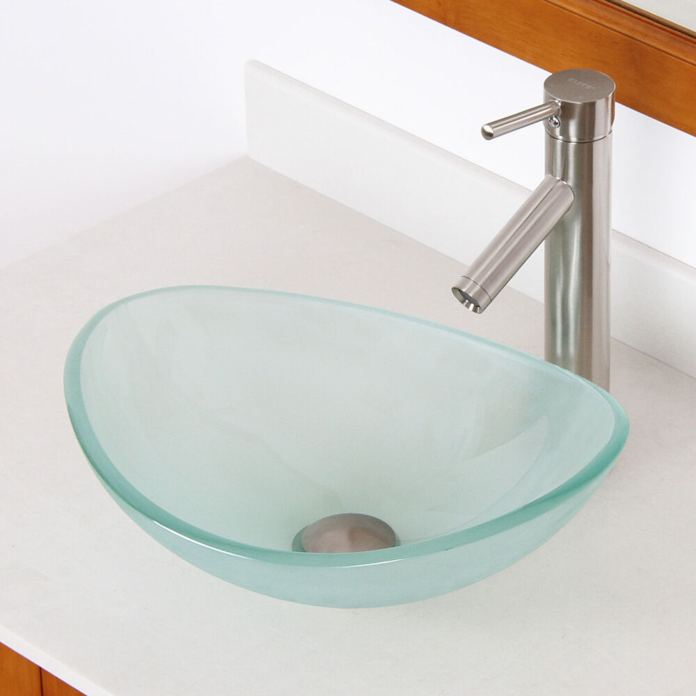 small vessel sinks for small bathrooms bathroom 16 quot small frosted glass vessel sink amp nickel 25768