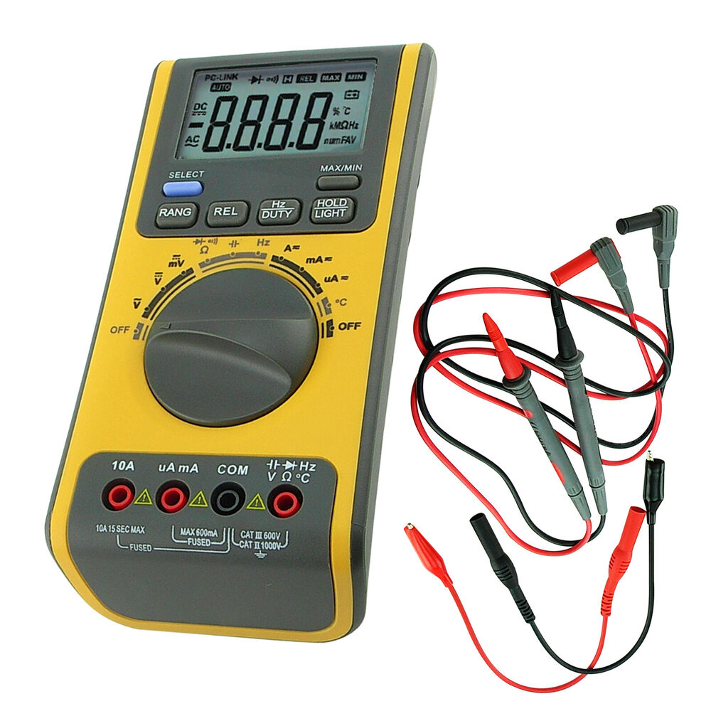 Multimeter For Home : Digital multimeter voltmeter thermometer ohm usb cd