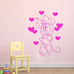 Minnie Mouse Nursery Wall Art Quote Vinyl Transfer Decal Sticker Mural Decor A4