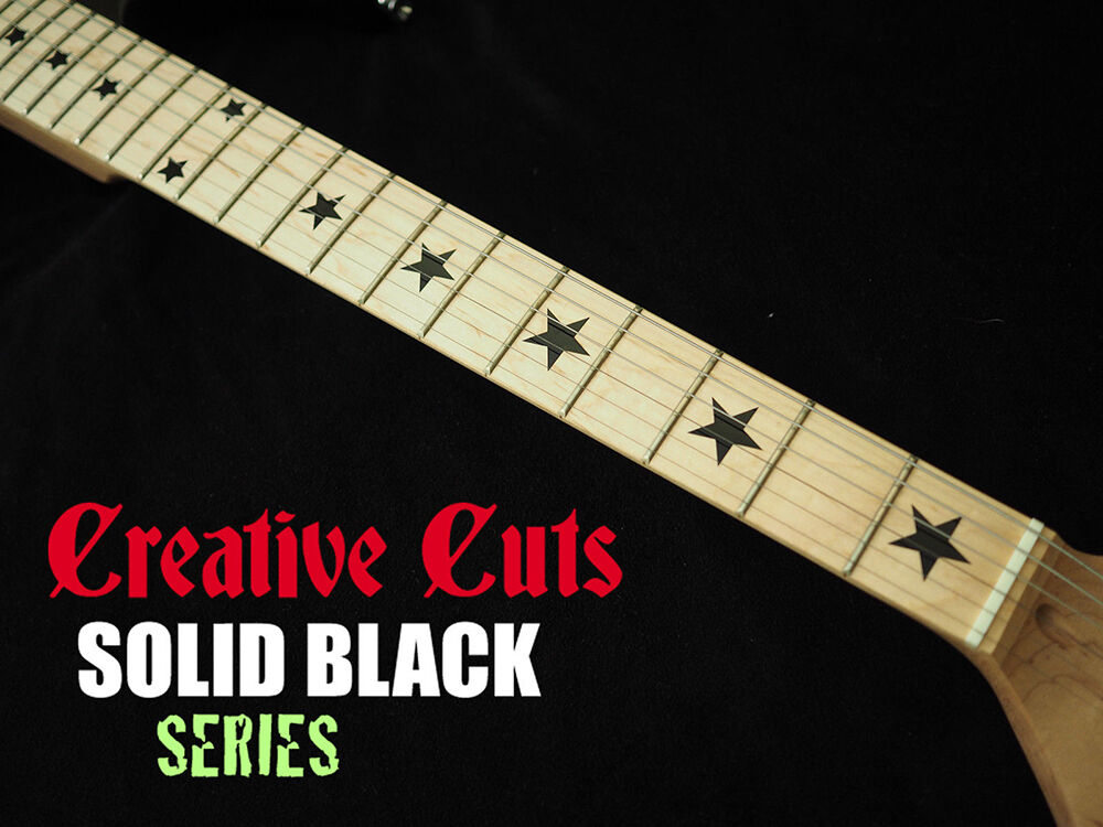 Stars Black Vinyl Inlay Star Decals For Fender Telecaster