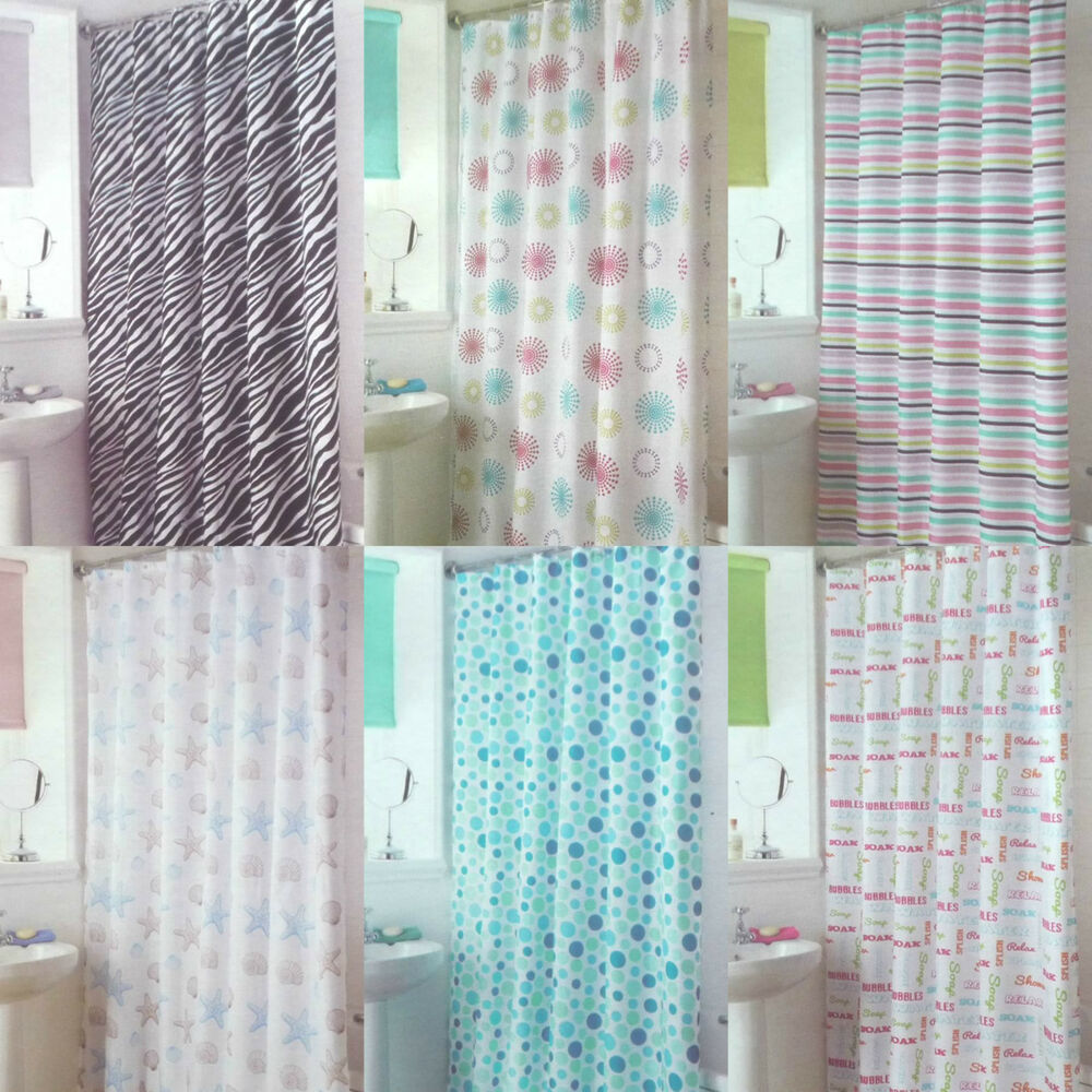 Modern Quality Funky Shower Curtains With 12 Rings Hooks 100 Polyester New Ebay