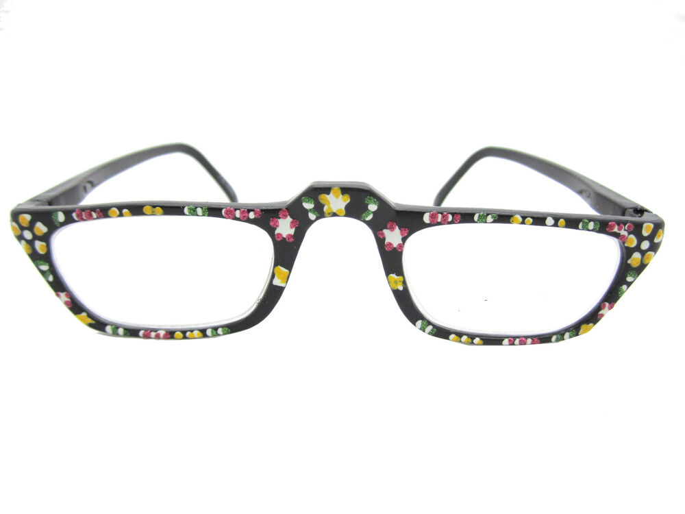 painted reader reading glasses free micro fiber
