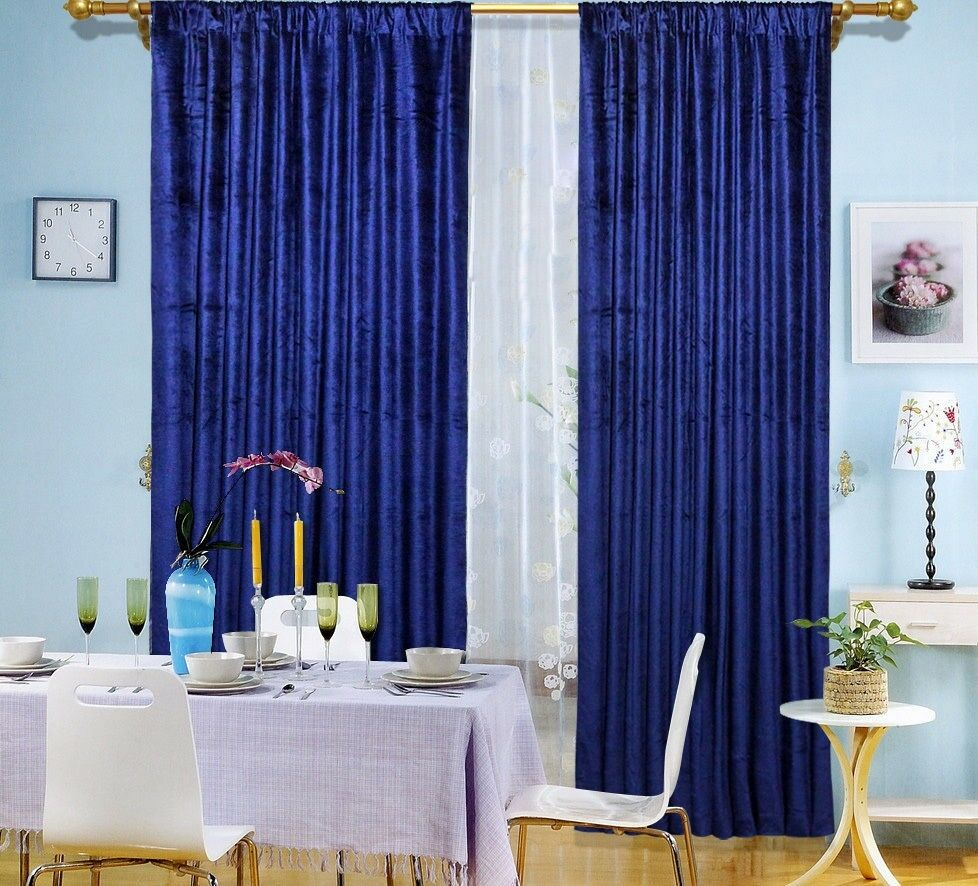 panel drapes velvet 60 x108 royal blue window curtain backdrop stu