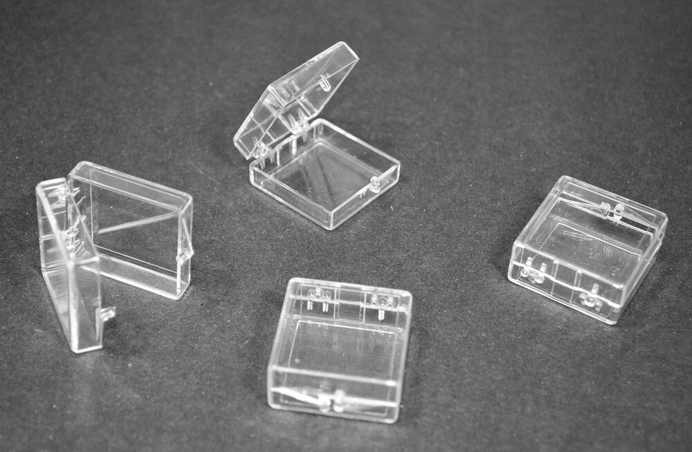 Acrylic Box 4 X 4 : Clear plastic hinged storage boxes quot