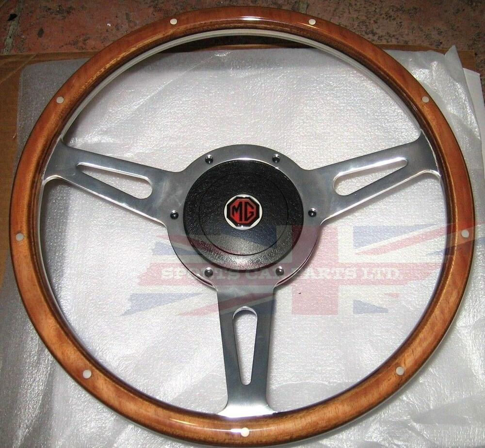 New 13 Quot Wood Steering Wheel And Adaptor For Mgb 1977 1980