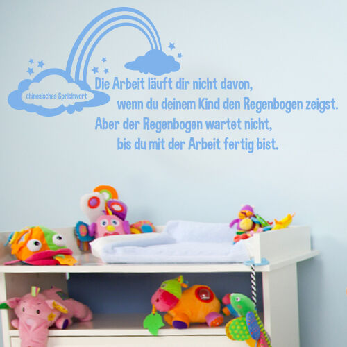 wandtattoo spruch die arbeit l uft kinderzimmer. Black Bedroom Furniture Sets. Home Design Ideas