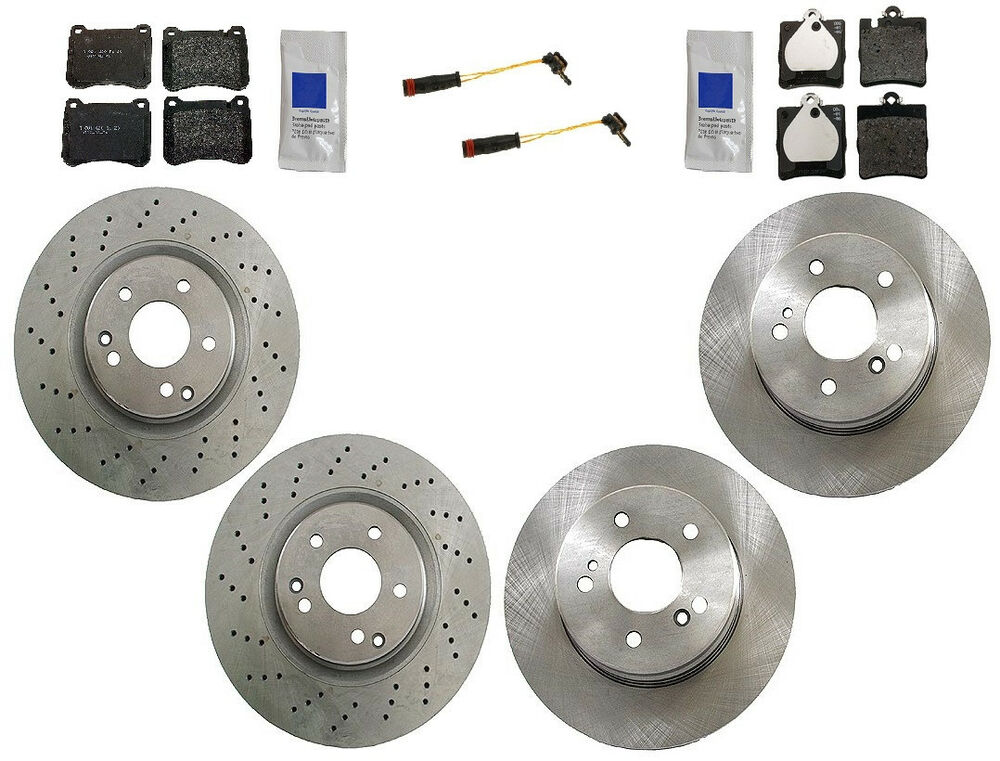 Mercedes w209 clk350 2006 2009 oem complete brake kit for Mercedes benz rotors and pads