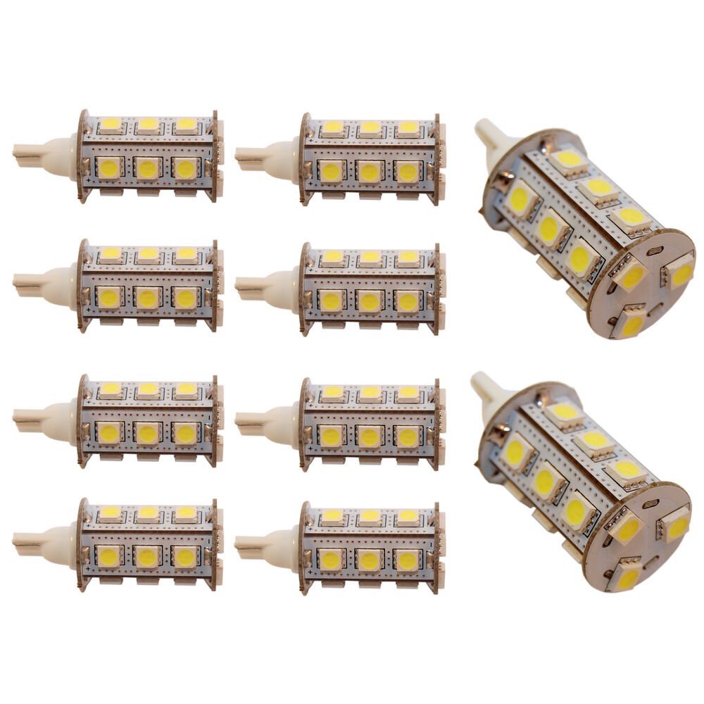 10x T10 Wedge Base LED Bulb Replacement for 194, 921 ...
