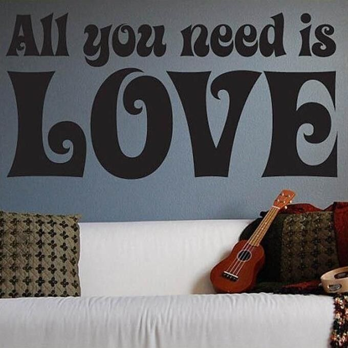 Wall Decor All You Need Is Love : The beatles all you need is love wall sticker quote vinyl