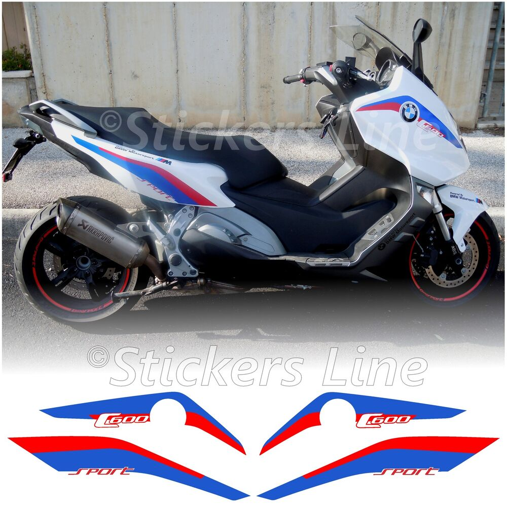 adesivi moto bmw c600 sport loghi carena bianco c 600 stickers bmw c 600 sport ebay. Black Bedroom Furniture Sets. Home Design Ideas