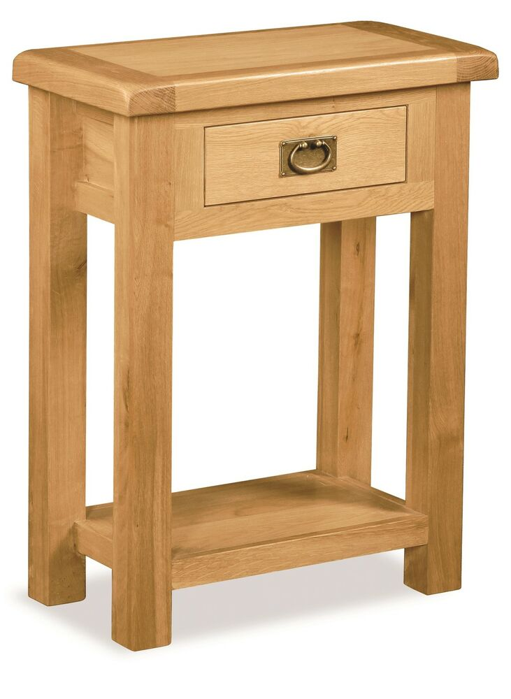 Zelah Oak Hall Table Small Telephone Table Waxed Oak