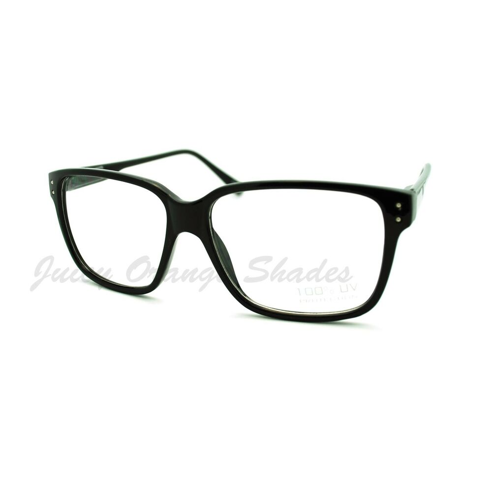 Eyeglasses Frame Square : Nerdy Square Rectangular Frame Clear Lens Eyeglasses ...