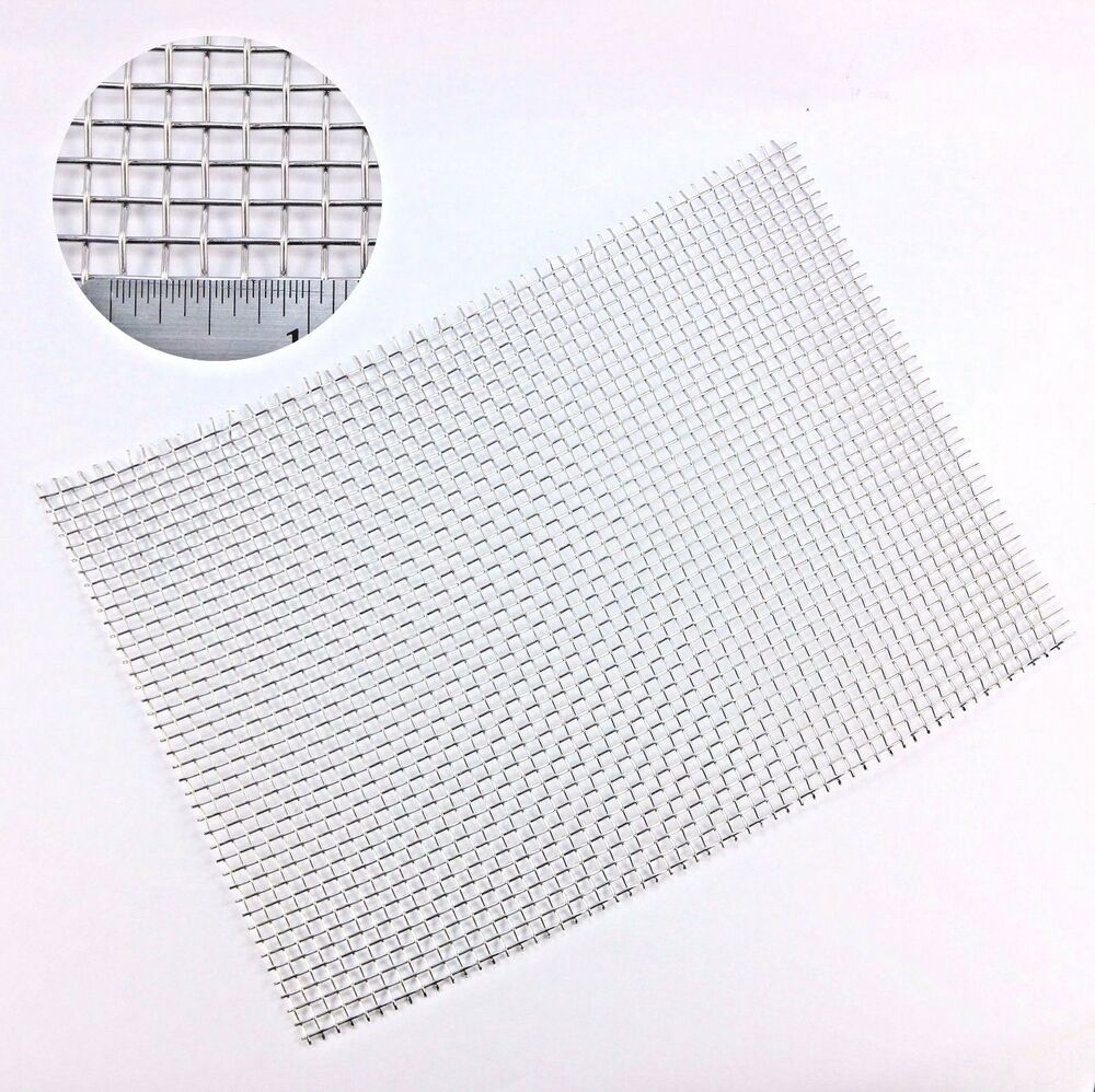 5 Stainless Steel Woven Mesh 4mm Aperture 01mm Wire