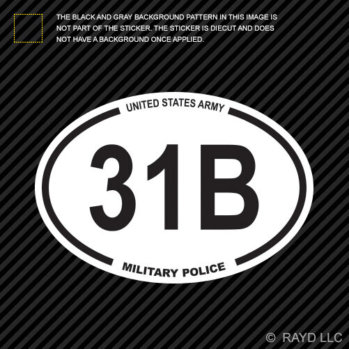 United States Army Mos 31b Military Police Oval Sticker Decal Us