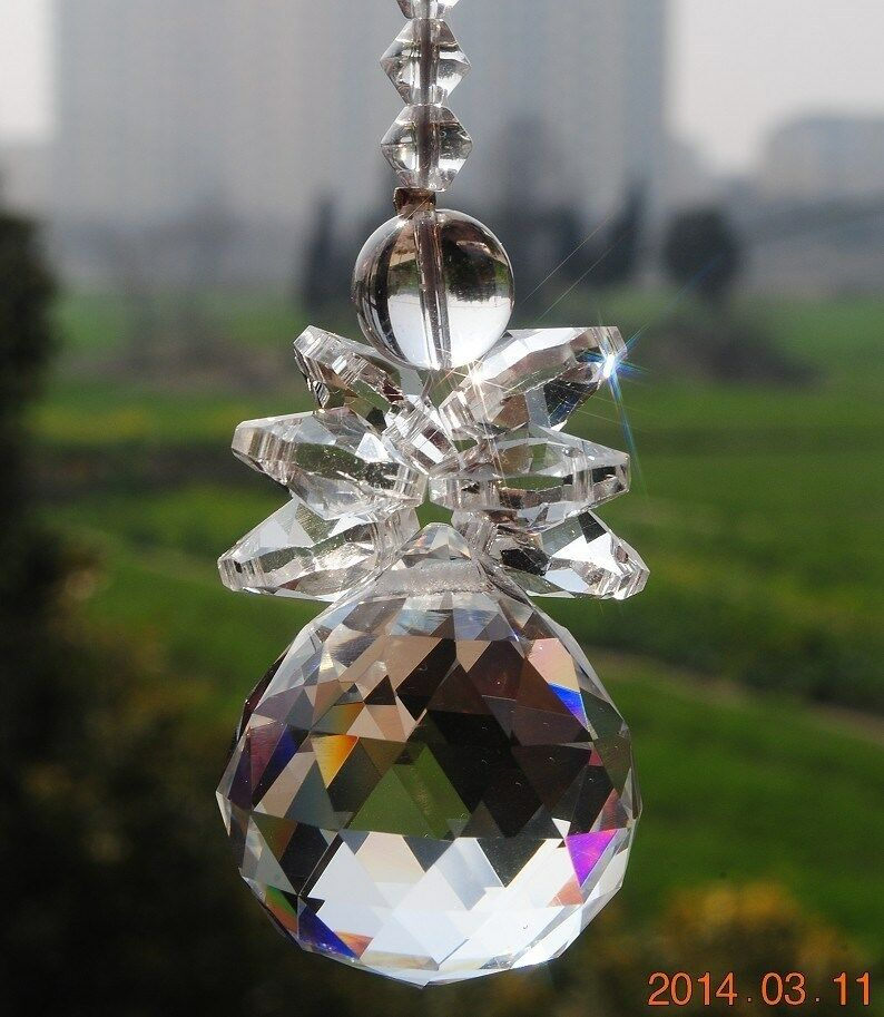 Crystal feng shui 30mm ball hanging chandelier wedding for Hanging ornaments from chandelier