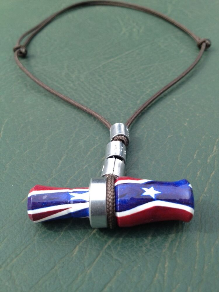 2 quot acrylic rebel mini duck goose call necklace