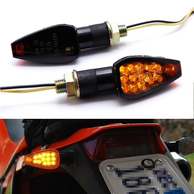 motorcycle mini led turn signals indicators blinker light. Black Bedroom Furniture Sets. Home Design Ideas