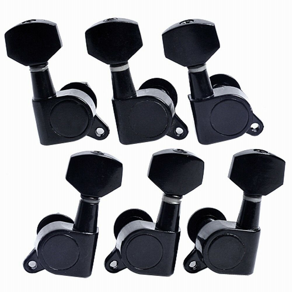 set black electric guitar string tuning pegs tuners machine heads keys 3r3l peg ebay. Black Bedroom Furniture Sets. Home Design Ideas