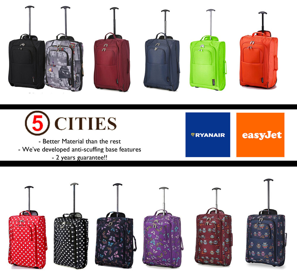 Easyjet Ryanair Trolley Cabin Hand Luggage Carry On Suitcase Bag Fits 56x45x25 Ebay