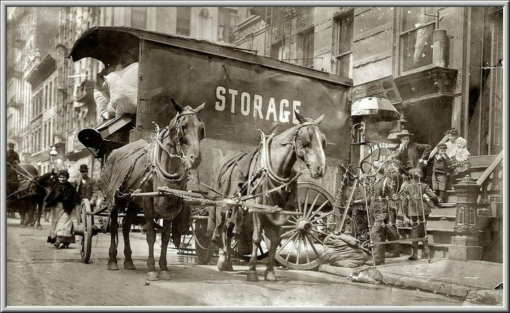New york city moving day 1908 tenements walkup horse for Moving from new york