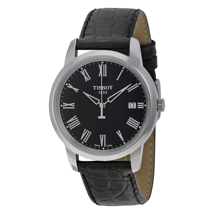 tissot t classic dream black dial mens watch. Black Bedroom Furniture Sets. Home Design Ideas