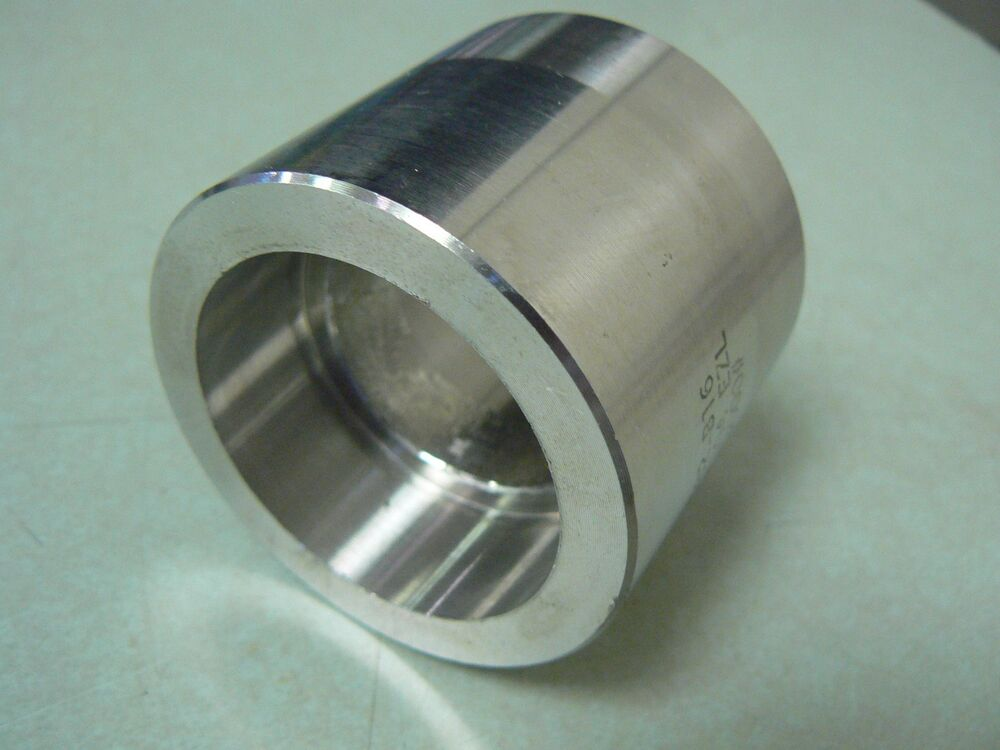 Quot stainless steel pipe coupling t socket weld