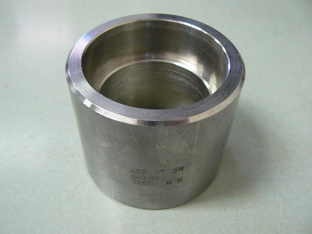 Quot stainless steel pipe coupling t l socket weld