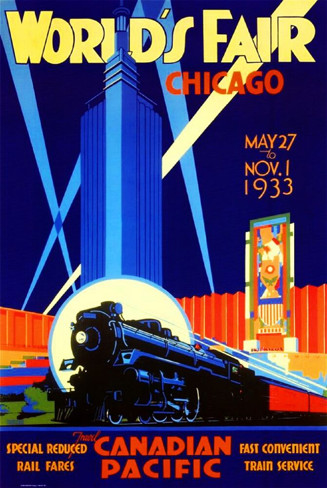 World S Fair Chicago Canadian Pacific Railroad Travel