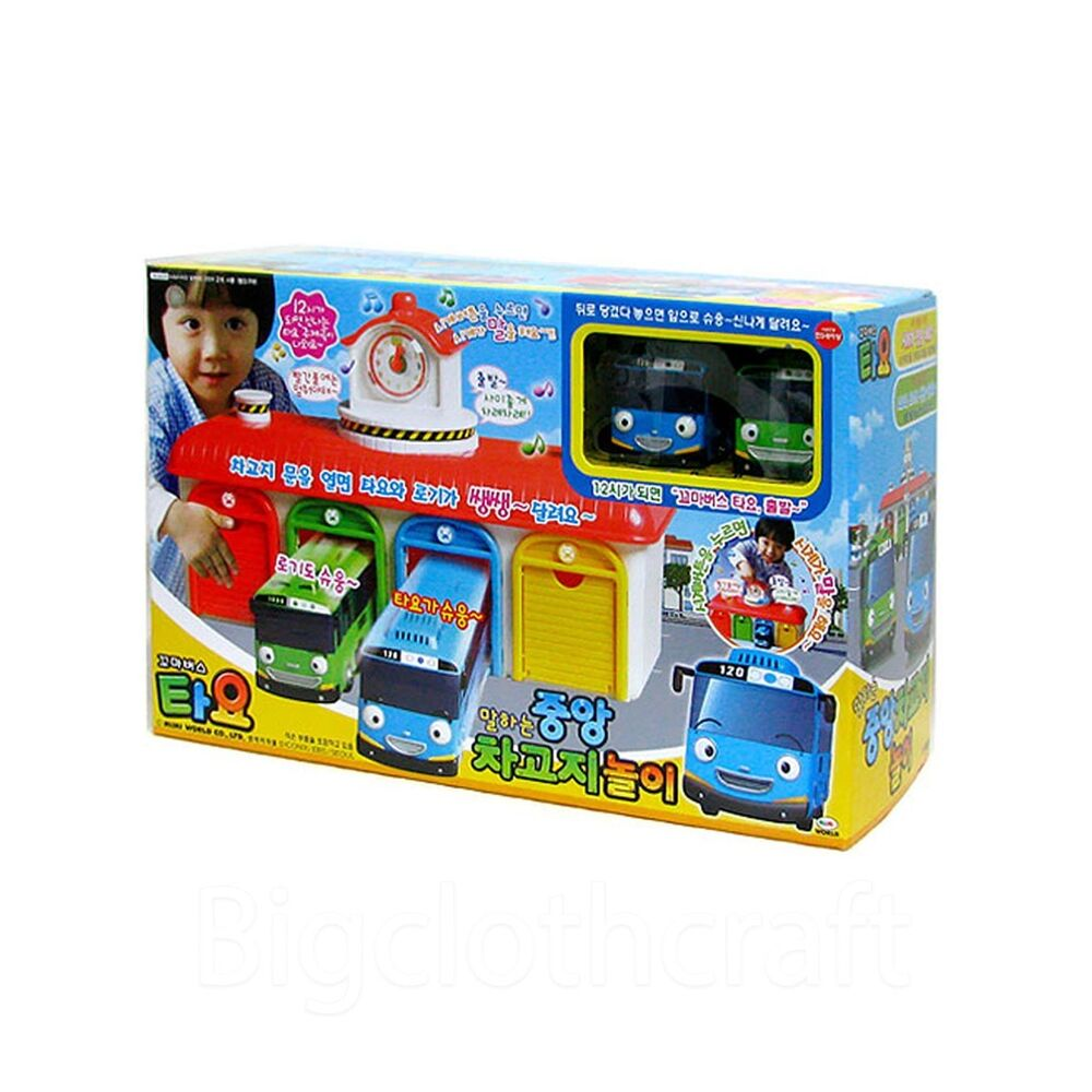 The Little Bus Tayo Talking Central Bus Garage Play Set Ebay