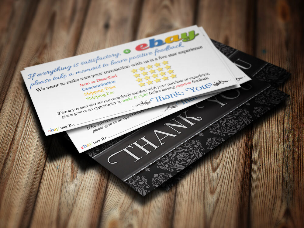 Thank you business cards feedback ebay seller 5 five star rating 100 thank you business cards feedback ebay seller 5 five star rating 100 elegant ebay reheart Choice Image