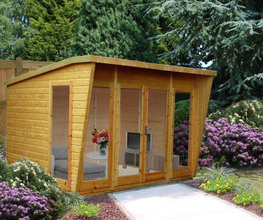 Garden wooden summerhouse 10x8 10x10 10x12 in 12x120mm t g for Garden shed 10x10