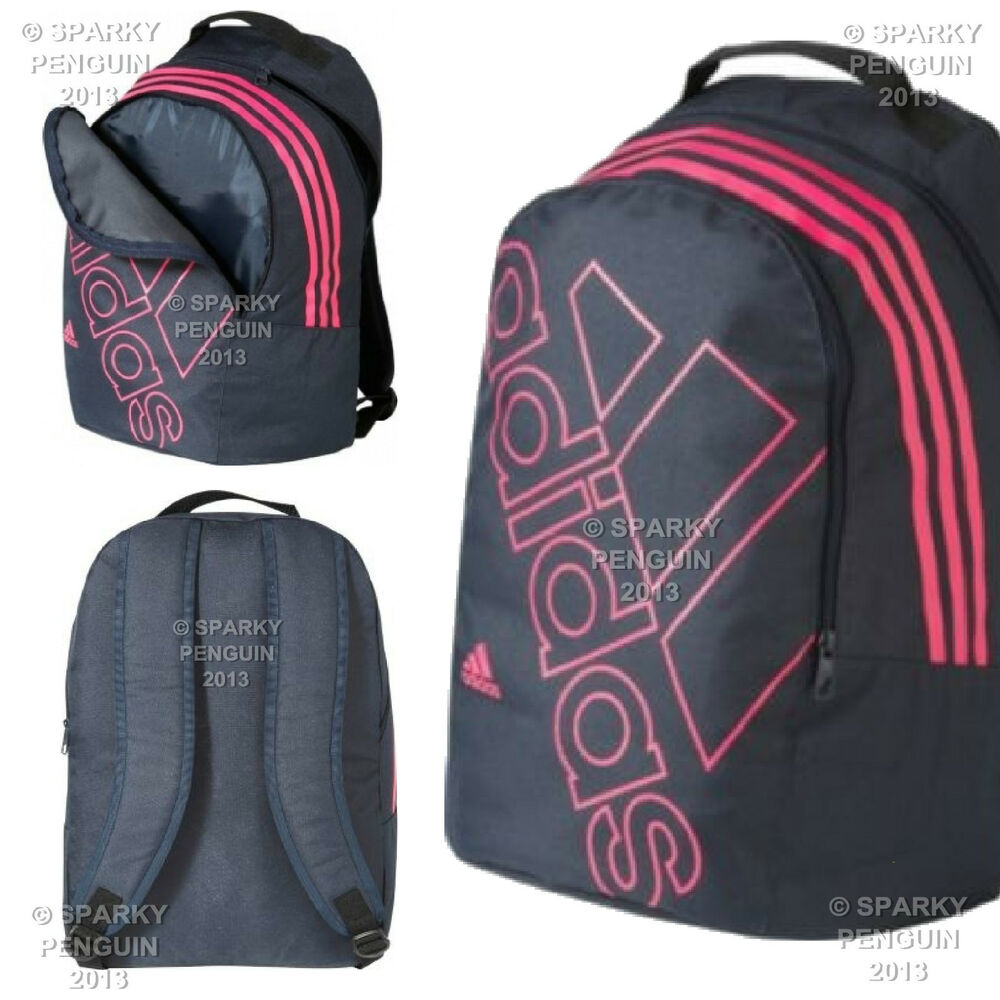 adidas blue amp pink backpack girls ladies womens rucksack