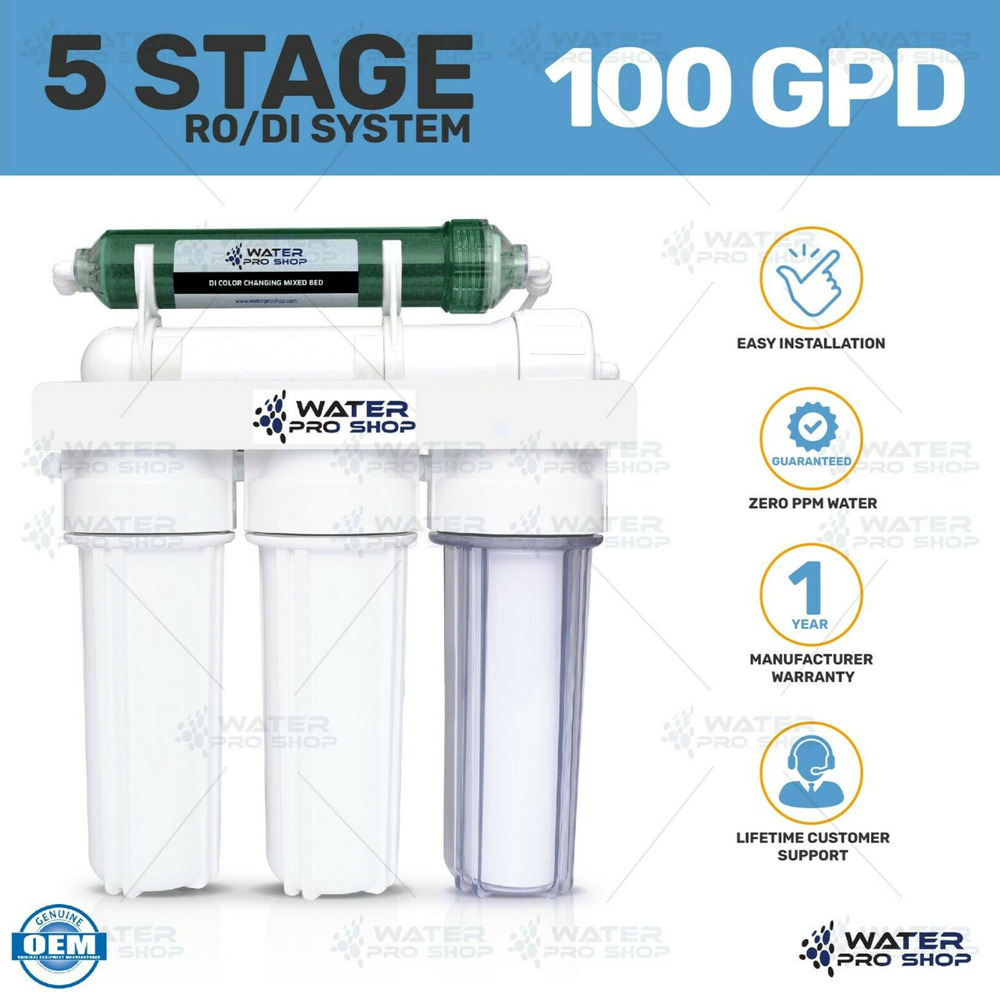 Made in usa 5 stage aquarium reef reverse osmosis water ro for Filtration aquarium