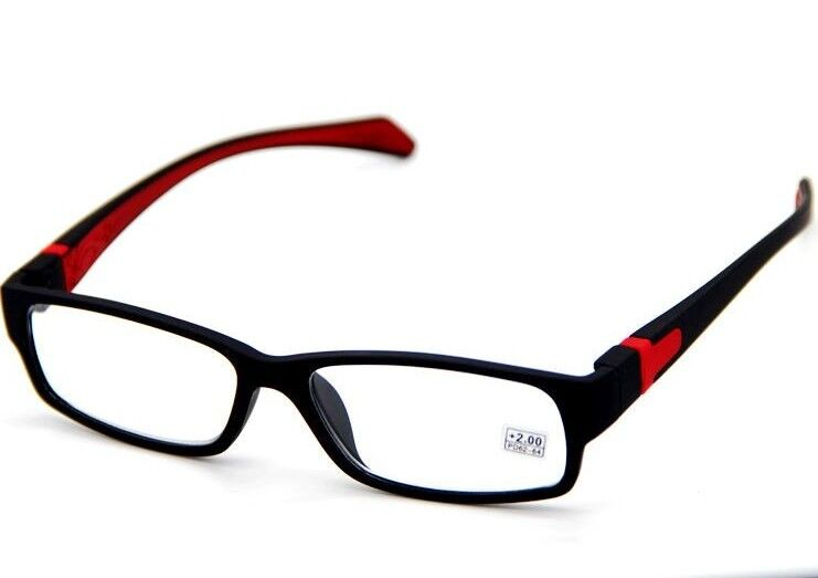 Mens Black Frame Reading Glasses : Mens Women Rubber Coated Frame Grip Reading Glasses Black ...
