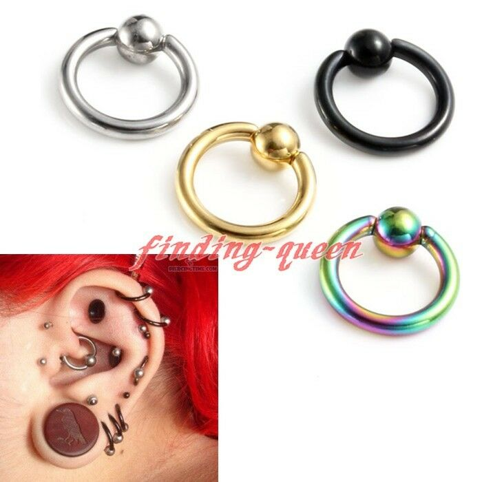 captive hoop earrings 16g surgical steel tragus helix hoop captive ring 7382