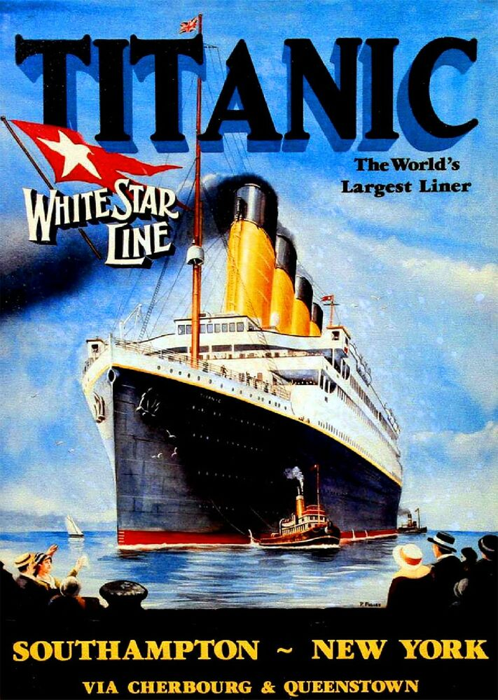 1912 Titanic White Star Largest Liner Art Travel ...