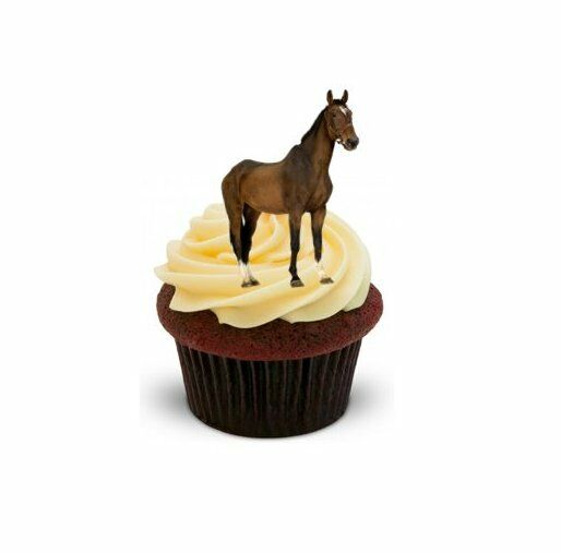 BROWN STANDING HORSE 12 STAND UPS Edible Image Cupcake ...