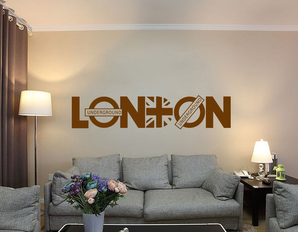 London underground art wall quotes wall stickers wall for Decor mural underground