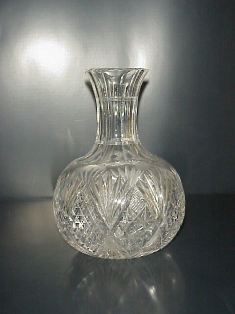 Cut Glass Abp American Brilliant Antique Carafe Decanter