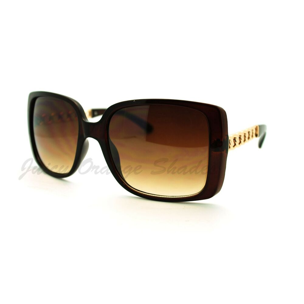Square Chain Design Celebrity Fashion Sunglasses For Women