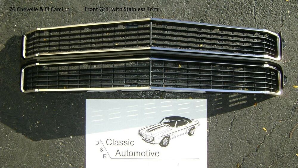 Chevelle 70 Grill W 8pc Installed Chrome Trim Moldings