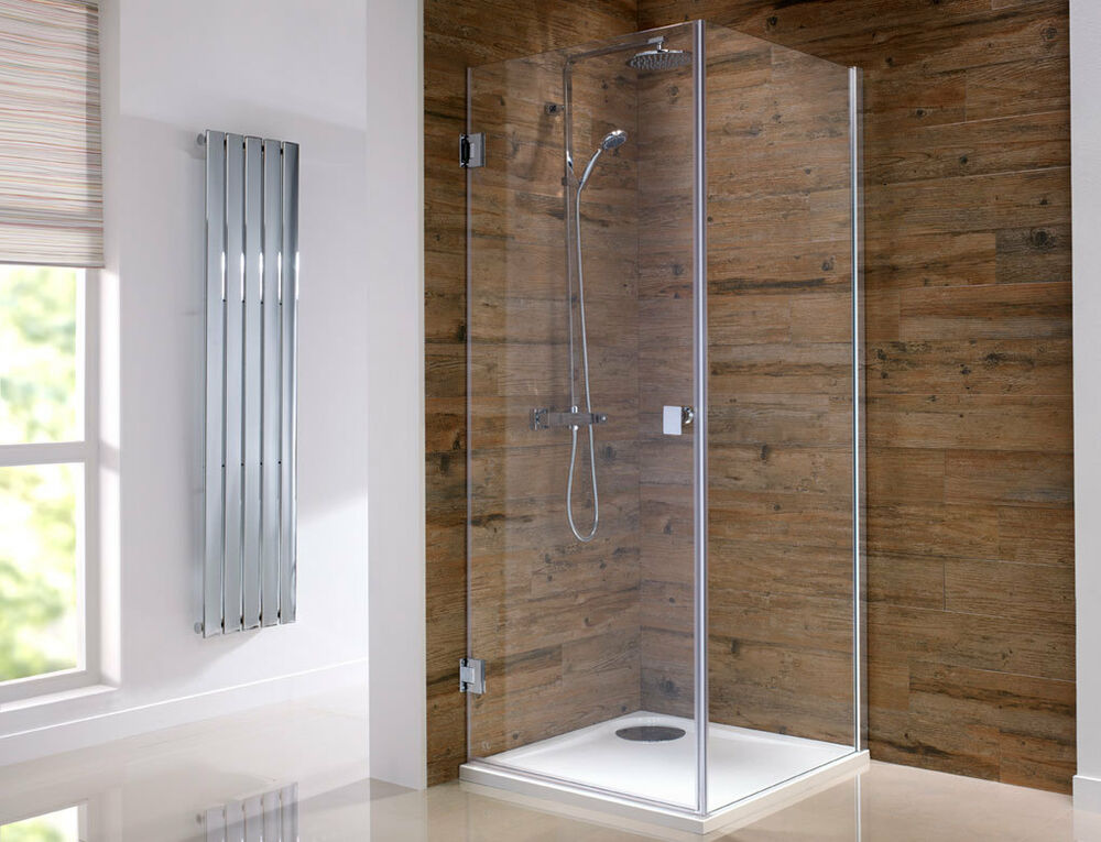 Frameless 8mm glass hinge pivot shower door enclosure 700 760 800 900 1000mm ebay - Shower cubicles for small spaces decoration ...