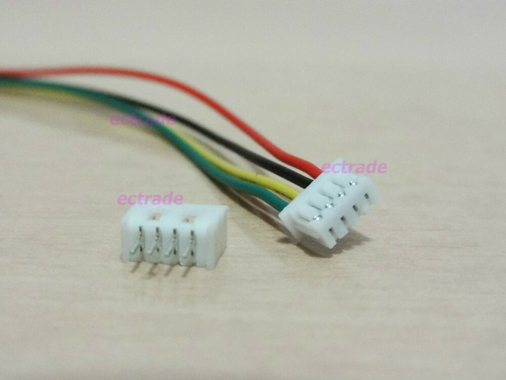 Micro jst 1 25mm 4 pin connector plug with wire x 10 sets ebay