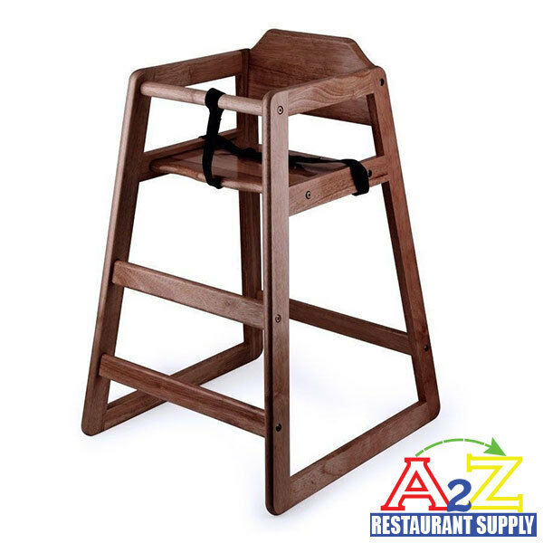 Restaurant Wooden High Chair Child Seat With Seat Belt
