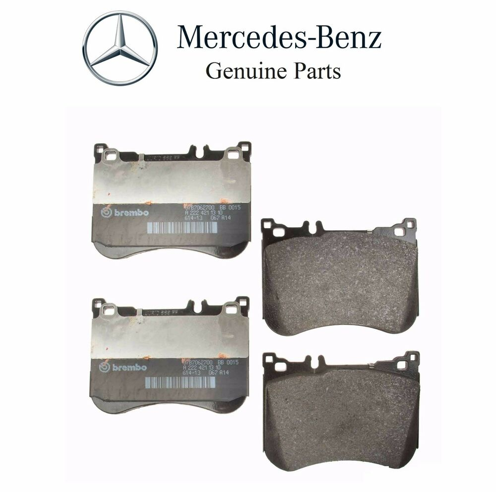 New mercedes benz s550 2014 front disc brake pad genuine for Brake pads mercedes benz