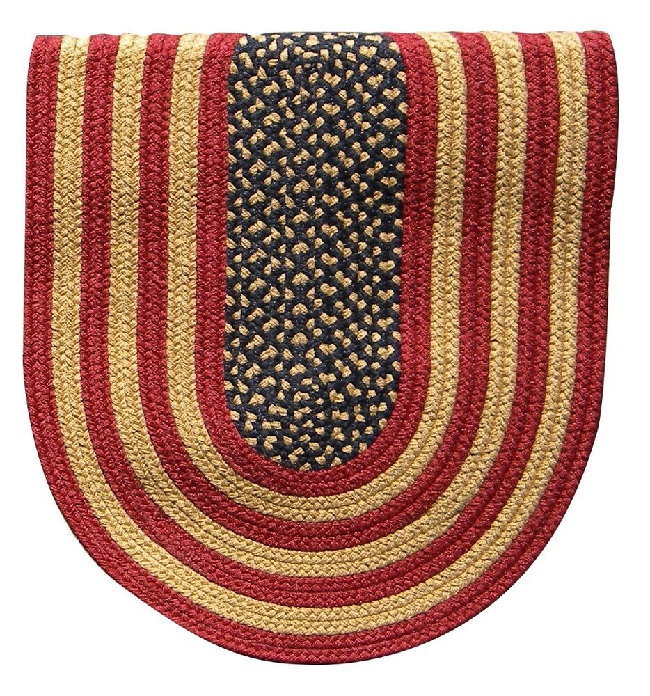 Braided Rugs: Rustic American Flag Colonial Home Durable Polypropylene